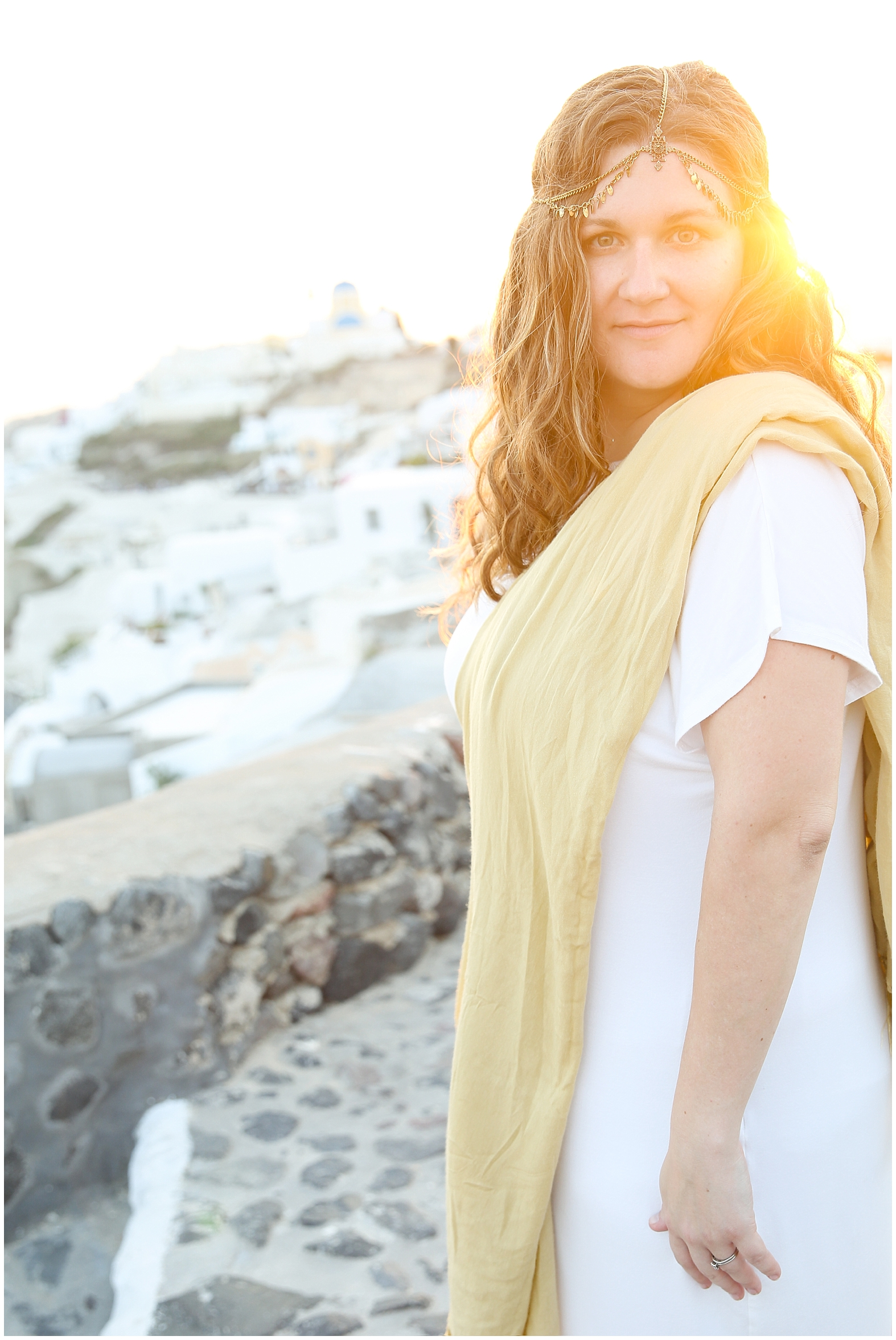 Greek Goddess Photoshoot. Santorini, Greece.
